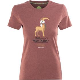 Edelrid Highball II T-Shirt Women darkred